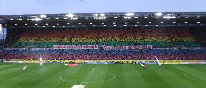 Ein Regenbogen Im Stadion Inqueery