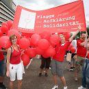 2008: CSD-Paradegruppe der Aidshilfe Köln