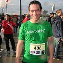 2010: Ein regennasser grüner Landtagsabgeordneter Arndt Klocke nach dem 10-km-Lauf vom Run of Colours