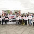 Startschuss für die Infokampagne zum Welt-AIDS-Tag auf dem Washington-Platz in Berlin.